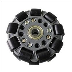 100mm Double Plastic Omni Wheel With Bearing 14058