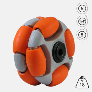 Rotacaster 48mm Double (65A) medium polyurethane roller with Acetal Bearing