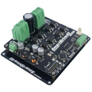 Enhanced SmartDrive40 designed to drive brushed DC motor, ranging from medium to high power motor with current capacity