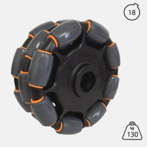 Rotacaster 125mm Triple (85A) polyurethane roller with 18mm Keyed Bore