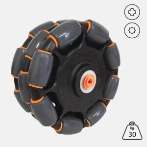 Rotacaster 125mm Triple 85A Polyurethane TPE roller with Lego or Vex Hub Adaptor